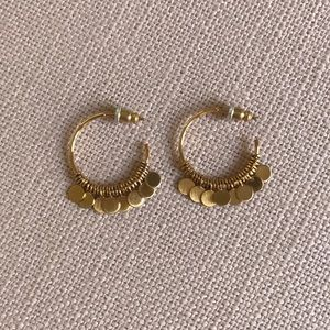 Stella & Dot Jewelry - Stella & Dot Small Fringe Hoop Earrings